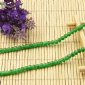 Beads, Glass, Green , Round shape, Diameter 4mm, 40 Beads, [BHB0110]
